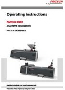 Operating manual Particle Sizer  ANALYSETTE 28 ImageSizer